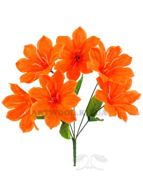 """Штучні квіти оптом. Букет штучних квітів """"Гібіскус з тичинкою 403"""""""