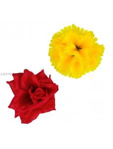 Букет гвоздика з трояндою дует А096-10